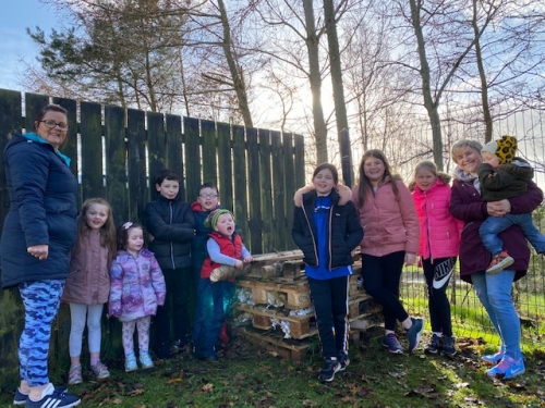 The new Bug Hotel in Mullacreevie Park, Armagh, 21 November 2020